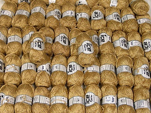 Viscosa Stella This mixed lot includes a total of 2000 gr (70.5 oz.) yarn. There is no standard for ball weight. Also disregard any information on the labels. You will get what you see in the photo. Fiber Content 75% Viscose, 25% Metallic Lurex, Brand ICE, fnt2-64087