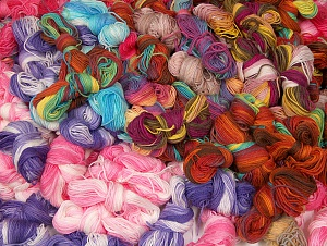 Magic Light Leftover This lot consists of about 100 hanks of Magic Light leftover yarn. The total weight is 2000 gr (70.5 oz.). Fiber Content 100% Acrylic, Brand ICE, fnt2-64089