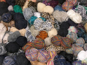 Leftover Yarns This mixed lot includes unlabeled leftover yarns. There is no standard for fiber content and ball weight. The total weight is 2000 gr (70.5 oz.). You will get what you see in the photo. Brand ICE, fnt2-64092