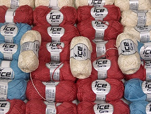 Summer Yarns This mixed lot includes a total of 2000 gr (70.5 oz.) yarn. There is no standard for ball weight. Also disregard any information on the labels. You will get what you see in the photo. Brand ICE, fnt2-64095