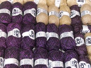 Metallic Yarns This mixed lot includes a total of 2000 gr (70.5 oz.) yarn. There is no standard for ball weight. Also disregard any information on the labels. You will get what you see in the photo. Brand ICE, fnt2-64107
