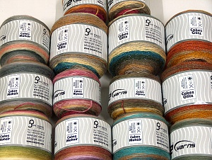 Cakes Yarns This mixed lot includes a total of 2000 gr (70.5 oz.) yarn. There is no standard for ball weight. Also disregard any information on the labels. You will get what you see in the photo. Brand ICE, fnt2-64110