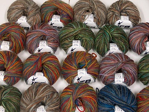 Magic Wool Worsted This mixed lot includes a total of 1000 gr (35 oz.) yarn. There is no standard for ball weight. Also disregard any information on the labels. You will get what you see in the photo. Fiber Content 65% Wool, 35% Acrylic, Brand ICE, fnt2-64111