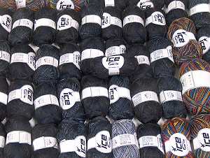 Winter Yarns This mixed lot includes a total of 2000 gr (70.5 oz.) yarn. There is no standard for ball weight. Also disregard any information on the labels. You will get what you see in the photo. Brand ICE, fnt2-64122