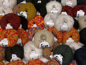 Winter Yarns This mixed lot includes a total of 2000 gr (70.5 oz.) yarn. There is no standard for ball weight. Also disregard any information on the labels. You will get what you see in the photo. Brand ICE, fnt2-64129
