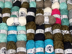Summer Yarns This mixed lot includes a total of 2000 gr (70.5 oz.) yarn. There is no standard for ball weight. Also disregard any information on the labels. You will get what you see in the photo. Brand ICE, fnt2-64131
