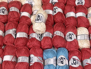 Summer Yarns This mixed lot includes a total of 2000 gr (70.5 oz.) yarn. There is no standard for ball weight. Also disregard any information on the labels. You will get what you see in the photo. Brand ICE, fnt2-64132