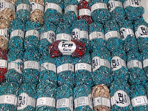 Gamberetto This mixed lot includes a total of 2000 gr (70.5 oz.) yarn. There is no standard for ball weight. Also disregard any information on the labels. You will get what you see in the photo. Fiber Content 60% Cotton, 40% Polyamide, Brand ICE, fnt2-64134