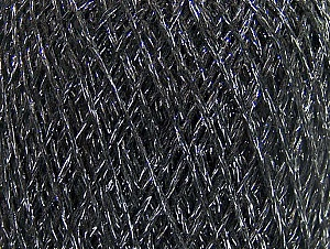Fiber Content 75% Viscose, 25% Metallic Lurex, Silver, Brand ICE, Anthracite Black, fnt2-64137
