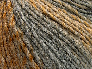 Fiber Content 70% Acrylic, 30% Wool, Brand ICE, Grey Shades, Gold, fnt2-64138