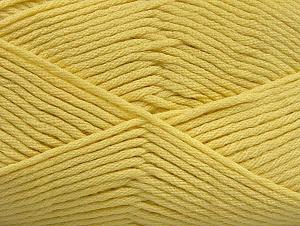 Vezelgehalte 52% Nylon, 48% Acryl, Light Yellow, Brand ICE, fnt2-64139