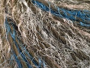 Fiber Content 45% Polyamide, 30% Wool, 25% Acrylic, White, Khaki, Brand ICE, Blue, fnt2-64155