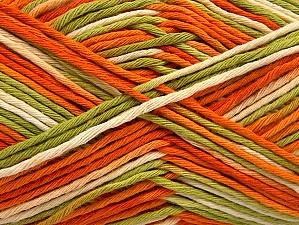 Contenido de fibra 100% Algodón, White, Orange, Brand ICE, Green Shades, fnt2-64195