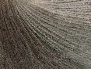 Fiber Content 60% Acrylic, 20% Wool, 20% Angora, Light Cream, Brand ICE, Grey Shades, Yarn Thickness 2 Fine  Sport, Baby, fnt2-64222