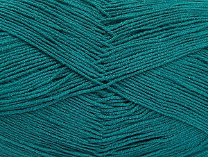 Fiberinnehåll 55% Bomull, 45% Akryl, Brand ICE, Emerald Green, Yarn Thickness 1 SuperFine  Sock, Fingering, Baby, fnt2-64232
