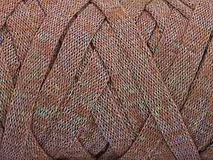 Περιεχόμενο ίνας 70% Recycled Cotton, 30% Μεταλλικό lurex, Brand ICE, Camel, fnt2-64376