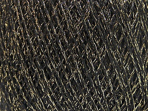 Fiber Content 75% Viscose, 25% Metallic Lurex, Brand ICE, Gold, Black, fnt2-64381