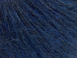 Fiber Content 9% Mohair, 56% Polyamide, 22% Acrylic, 13% Wool, Brand ICE, Blue, Black, fnt2-64409