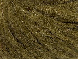 Fiber Content 88% Acrylic, 8% Polyamide, 4% Viscose, Khaki, Brand ICE, fnt2-64432