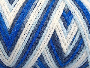 Fiber Content 50% Polyamide, 50% Acrylic, White, Navy, Brand ICE, Blue Shades, fnt2-64465