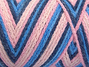 Fiber Content 50% Acrylic, 50% Polyamide, Pink Shades, Brand ICE, Blue Shades, fnt2-64475