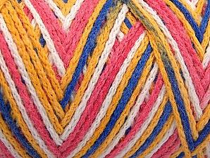 Fiber Content 50% Acrylic, 50% Polyamide, White, Pink, Brand Ice Yarns, Gold, Blue, Yarn Thickness 4 Medium Worsted, Afghan, Aran, fnt2-64481