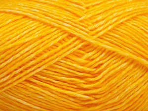 Fiber Content 80% Cotton, 20% Acrylic, Yellow, Brand Ice Yarns, fnt2-64558