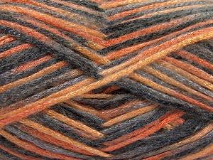 Fiber Content 70% Polyamide, 19% Wool, 11% Acrylic, Orange Shades, Brand Ice Yarns, Grey Shades, fnt2-64594
