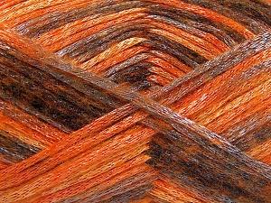 Fiber Content 70% Polyamide, 19% Wool, 11% Acrylic, Orange Shades, Brand Ice Yarns, Grey, Black, fnt2-64595