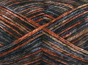 Fiber Content 70% Polyamide, 19% Wool, 11% Acrylic, Orange, Brand Ice Yarns, Grey, Bronze, Black, fnt2-64596