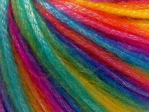 Fiber Content 56% Polyester, 44% Acrylic, Rainbow, Brand Ice Yarns, fnt2-64626