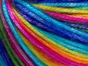 Fiber Content 56% Polyester, 44% Acrylic, Rainbow, Brand Ice Yarns, fnt2-64627