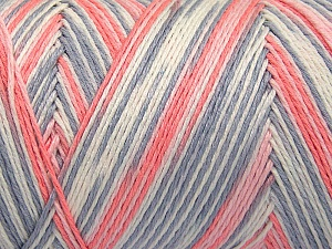 Fiber Content 100% Acrylic, White, Light Salmon, Light Pink, Light Grey, Brand Ice Yarns, fnt2-64653