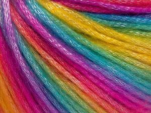 Fiber Content 56% Polyester, 44% Acrylic, Rainbow, Brand Ice Yarns, fnt2-64666