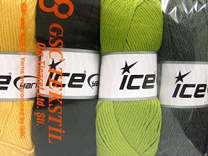 Vezelgehalte 52% Nylon, 48% Acryl, Mixed Lot, Brand Ice Yarns, fnt2-64672