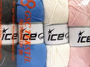 Vezelgehalte 52% Nylon, 48% Acryl, Mixed Lot, Brand Ice Yarns, fnt2-64674