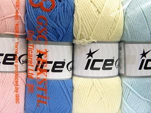 Vezelgehalte 52% Nylon, 48% Acryl, Mixed Lot, Brand Ice Yarns, fnt2-64676