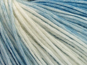 Modal is a type of yarn which is mixed with the silky type of fiber. It is derived from the beech trees. Fiberinnehåll 74% Modal, 26% Ull, Brand Ice Yarns, Ecru, Blue, Yarn Thickness 3 Light  DK, Light, Worsted, fnt2-64806