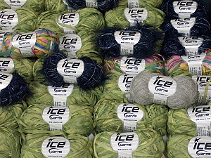Summer Yarns This mixed lot includes a total of 2000 gr (70.5 oz.) yarn. There is no standard for ball weight. Also disregard any information on the labels. You will get what you see in the photo. Brand Ice Yarns, fnt2-64843