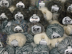 Eyelash Blends This mixed lot includes a total of 2000 gr (70.5 oz.) yarn. There is no standard for ball weight. Also disregard any information on the labels. You will get what you see in the photo. Brand Ice Yarns, fnt2-64867