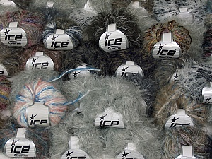 Eyelash Blends This mixed lot includes a total of 2000 gr (70.5 oz.) yarn. There is no standard for ball weight. Also disregard any information on the labels. You will get what you see in the photo. Brand Ice Yarns, fnt2-64868