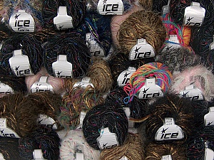 Fancy Yarns This mixed lot includes a total of 2000 gr (70.5 oz.) yarn. There is no standard for ball weight. Also disregard any information on the labels. You will get what you see in the photo. Brand Ice Yarns, fnt2-64897