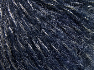Fiber Content 60% Acrylic, 21% Polyester, 19% Alpaca, Silver, Navy, Brand Ice Yarns, fnt2-64918