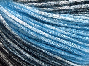 Modal is a type of yarn which is mixed with the silky type of fiber. It is derived from the beech trees. Fiber Content 74% Modal, 26% Wool, Brand Ice Yarns, Blue, Black, fnt2-64934