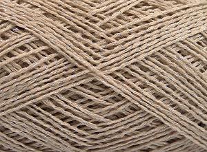 Fiber Content 76% Cotton, 24% Polyester, Light Beige, Brand Ice Yarns, fnt2-64948