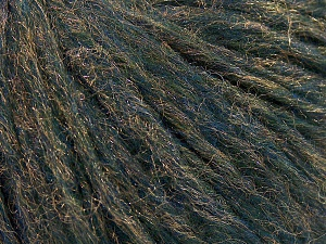 Fiber Content 58% Extrafine Merino Wool, 42% Polyamide, Turquoise, Brand Ice Yarns, Gold, fnt2-64955