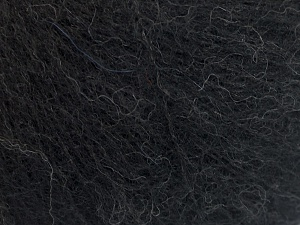 Fiber Content 31% Wool, 3% Elastan, 28% Alpaca Superfine, 22% Polyamide, 16% Acrylic, Brand Ice Yarns, Black, fnt2-64973