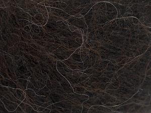 Fiber Content 31% Wool, 3% Elastan, 28% Alpaca Superfine, 22% Polyamide, 16% Acrylic, Brand Ice Yarns, Dark Brown, fnt2-64975