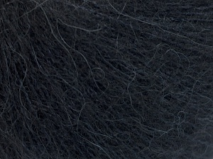 Fiber Content 40% Kid Mohair, 40% Alpaca Superfine, 3% Elastan, 17% Polyamide, Brand Ice Yarns, Dark Navy, fnt2-64984
