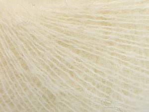 Fiber Content 40% Alpaca Superfine, 40% Kid Mohair, 3% Elastan, 17% Polyamide, Light Cream, Brand Ice Yarns, fnt2-64986